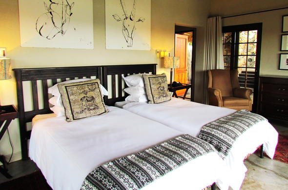 Twin room accommodation offered in the Garden Suite of Buhala Lodge.