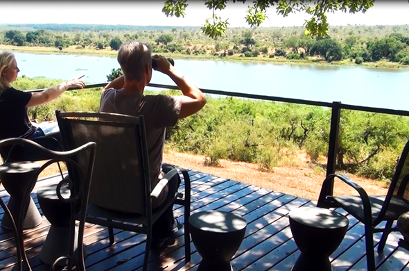 Enjoy incredible views of the Crocodile River from the Buhala Lodge viewing deck.
