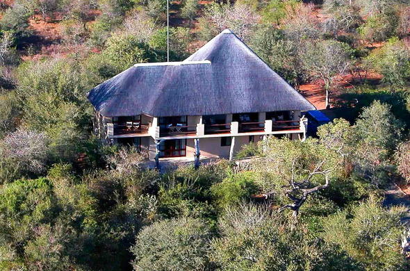 Aerial view of Bushwise Safari Lodge.