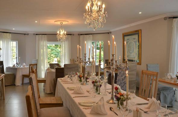 Dinning is an intimate affair at Country Boutique Hotel.