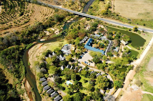 Aerial view of Hippo Hollow Country Estate in Hazyview.