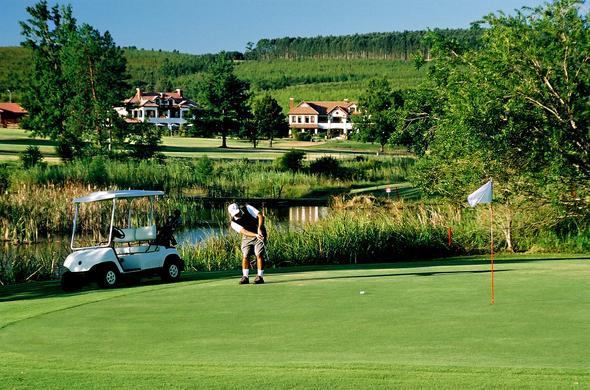 Enjoy a game of golf on the lush lawns of Olivers Restaurant & Lodge.