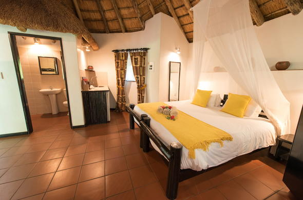 Guests can find cosy accommodation in the Rondavel at Sefapane Main Lodge.